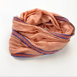 Charlotte Russe Infinity Scarf with Trim Detail